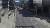 City of London: Gt Eastern St/Holywell Ln - Day time