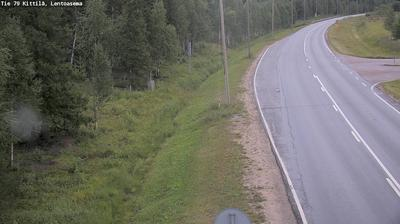 Daylight webcam view from Kittilä: Tie 79 − Lentoasema − Rovaniemi