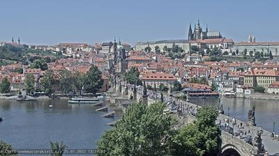 Vue webcam de jour à partir de Old Town: Prague − Castle