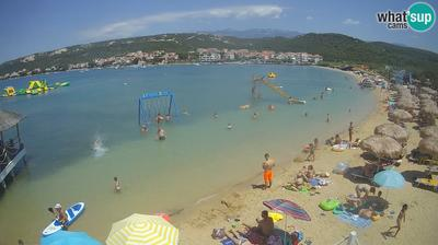 Daylight webcam view from Stara Novalja: Novalja, Planjka beach