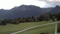 Oberstdorf: Nebelhornblick - Blick vom Ringhotel Nebelhornblick in Richtung Nebelhorn und Rubihorn - Recent