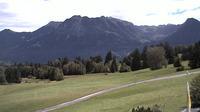 Oberstdorf: Nebelhornblick - Blick vom Ringhotel Nebelhornblick in Richtung Nebelhorn und Rubihorn - Jour