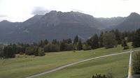 Oberstdorf: Nebelhornblick - Blick vom Ringhotel Nebelhornblick in Richtung Nebelhorn und Rubihorn - Overdag