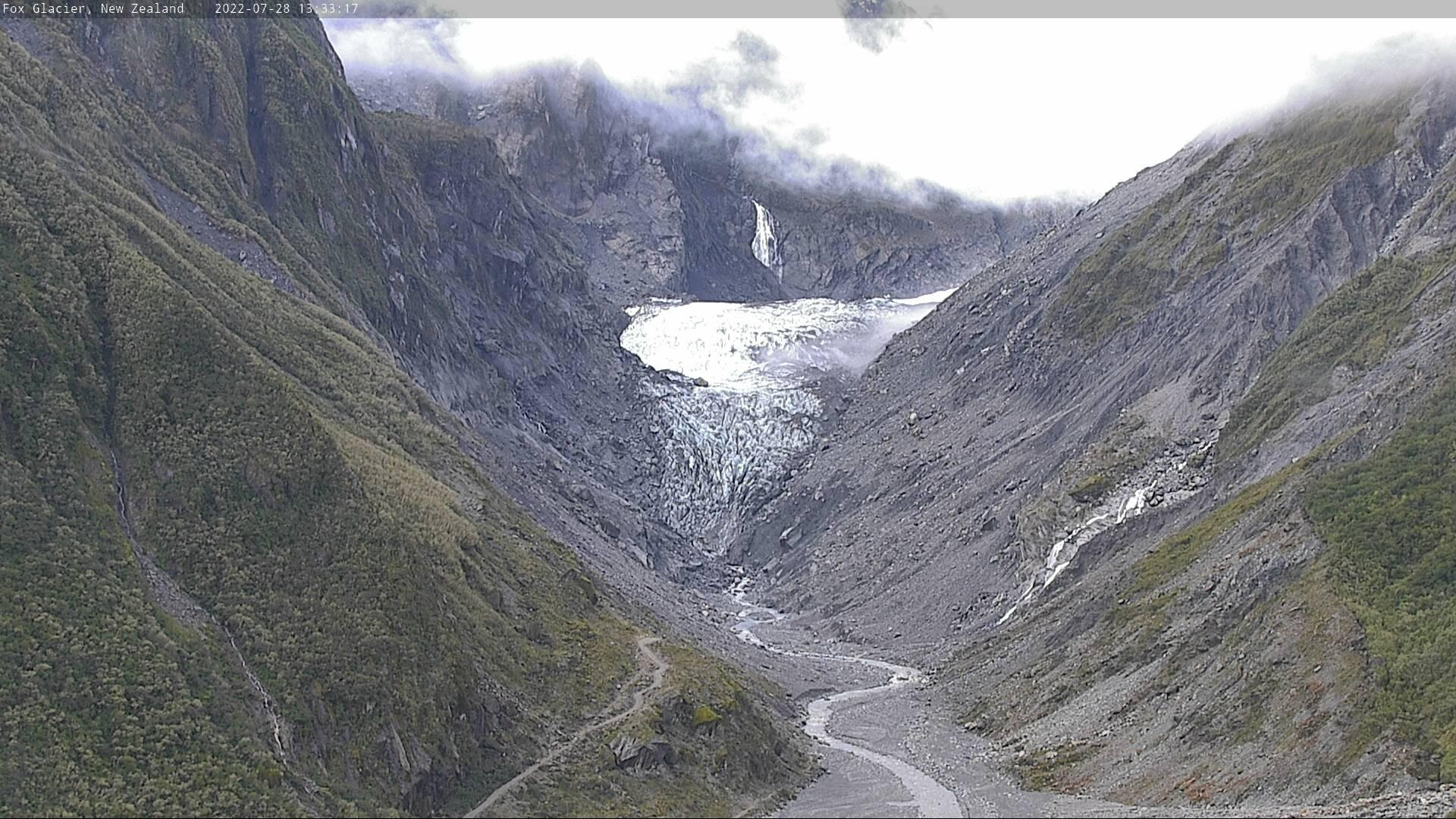 Webkamera Fox Glacier › East: Valley and Snowfields