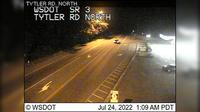 Poulsbo > North: SR  at MP : Tytler Rd Looking North - Actual