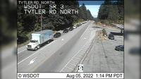 Poulsbo > North: SR  at MP : Tytler Rd Looking North - Overdag