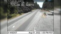 Poulsbo > North: SR  at MP : Tytler Rd Looking North - Dia