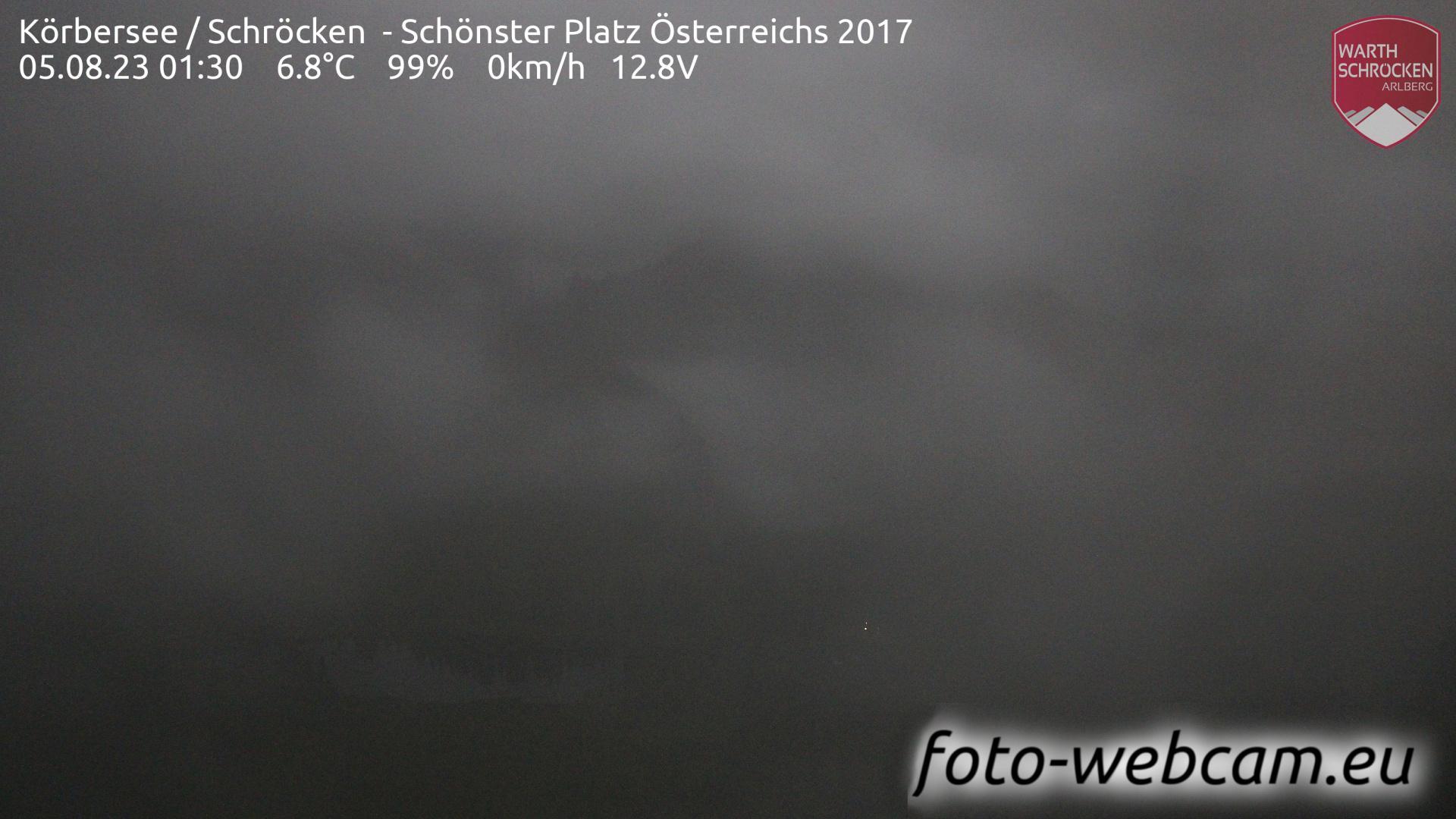 Webcam Schröcken: Körbersee − Blick nach Südwesten