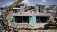 Last daylight view from Crikvenica: apartment construction site