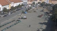 Třebíč: Pohled z městské věže na Třebíč - El día