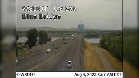 Webcam Pasco West: Blue Bridge on US 395 @ MP 19