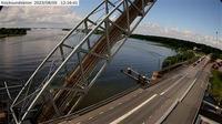 Kvicksund: Kvicksundsbron (Kameran är placerad på väg  i höjd med Kvicksundsbron och är riktad mot Västerås) - Day time