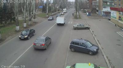 Vue webcam de jour à partir de Sloviansk: Slovyansk − Vulytsya Svobody