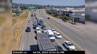 City of Langley > North-West: Hwy  at Fraser Hwy in Langley, looking northwest - Day time