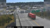 New Westminster > South: Hwy  (South Fraser Perimeter Rd) at Tannery Rd Overpass in Surrey, looking south - Dagtid