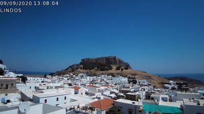 Tageslicht webcam ansicht von Lindos › South East: Acropolis of Lindos − Lindos Beach