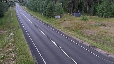Vista de cámara web de luz diurna desde Kuusamo: Tie Käylä Kuusamoon