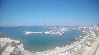 Daylight webcam view from Naxos: Island − Hafen