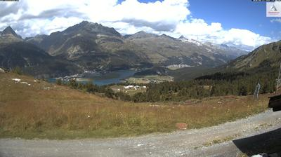 Vue webcam de jour à partir de Surlej: Engadin St. Moritz − Corvatsch − Alpetta