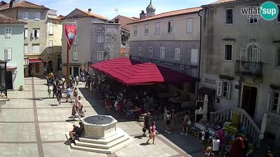 Daylight webcam view from Krk: Stadt − Marktplatz