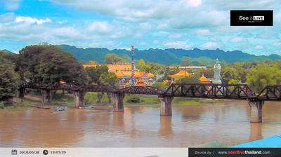 Vue webcam de jour à partir de บ้านพฤกษากาญณ์: The Bridge of The River Kwai