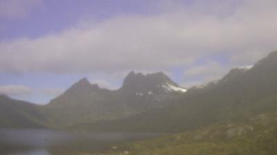 Current or last view from Cradle Mountain Lake Saint Clair National Park: Cradle Mountain