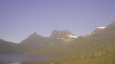 Daylight webcam view from Cradle Mountain Lake Saint Clair National Park: Cradle Mountain