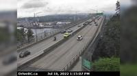 Vancouver > North: , Ironworkers Memorial Bridge, south end, looking north - Overdag