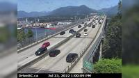 Vancouver > North: , Ironworkers Memorial Bridge, south end, looking north - El día