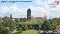 Frankfurt am Main: Darmstadt - Blick nach Osten zum Hochzeitsturm - El día
