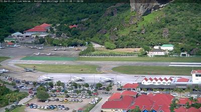 Daylight webcam view from Gustavia: Saint Barth Aéroport