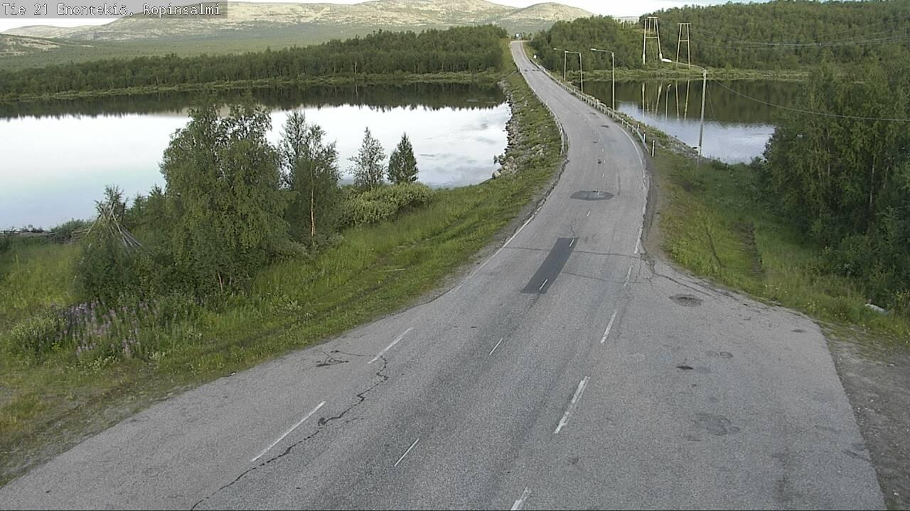 Webcam Siikavuopio: Tie21 Ropinsalmi − Kilpisjärvelle