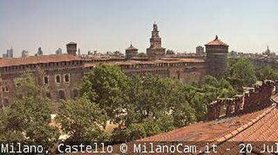 Vue webcam de jour à partir de Milan: Castello Sforzesco
