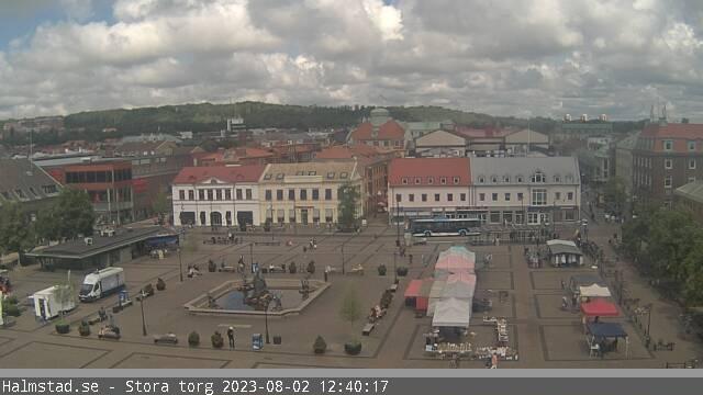 Webcam Halmstad › North: Halmstad Stora Torg − Stora väge