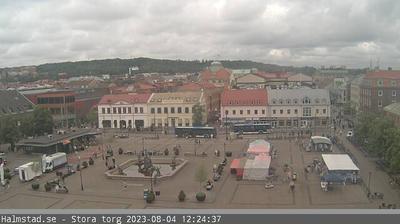 Daylight webcam view from Halmstad › North: Halmstad, Stora Torg − Stora vägen