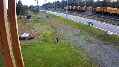 Webcam Bastuträsk: Järnvägsstation: Webbkamera