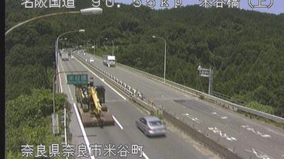 Daylight webcam view from Dōgatani: Weather&Traffic of the MEIHAN highway at east of Tenri − JAPAN名阪国道 天理市東側の様子