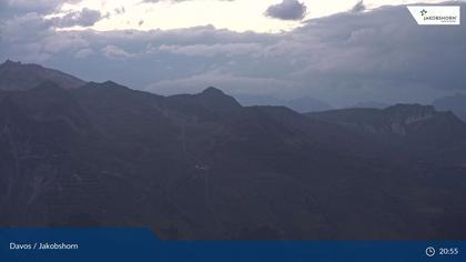 Davos: Platz - Jakobshorn, Blick Gipfel und