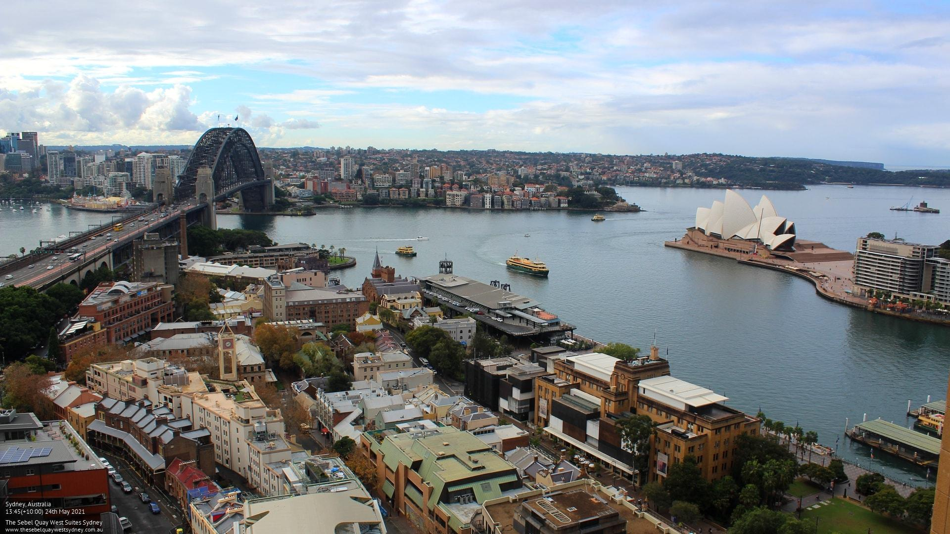 Webcam Sydney: State of − Quay West Suites