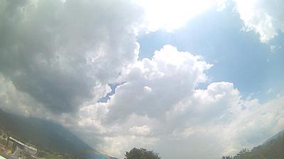 Vue actuelle ou dernière à partir de Antigua Guatemala: Sacatepéquez − Volcan de Agua