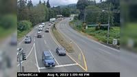 Nanoose Bay > South: Hwy  at Northwest Bay Rd, near - looking south - Day time