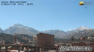 Tageslicht webcam ansicht von Huaraz: Blick nach Osten