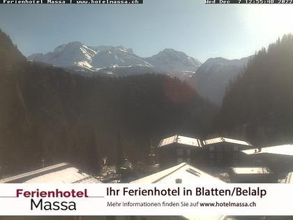 Blatten: Hotel Massa - Aussicht