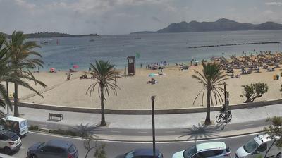 Tageslicht webcam ansicht von Port de Pollença: Port de Pollensa webcam, Mallorca