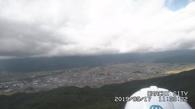 Webcam 大町: 鷹狩山ライブカメラ-長野県大町市