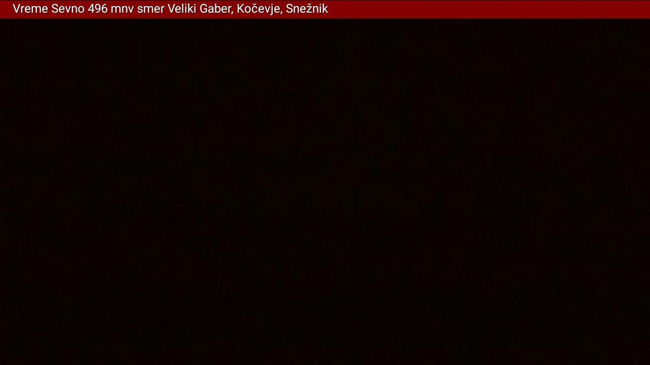 Webcam Sevno › South: Veliki Gaber − Snežnik