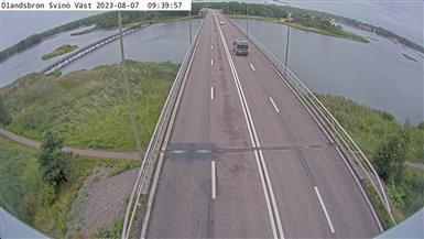 Webcam Berga: Ölandsbron Svinö västerut