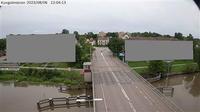 Valskog: Kungsörsbron (Kameran är placerad på väg  i höjd med Kungsörsbron och är riktad mot Kungsör) - Dagtid
