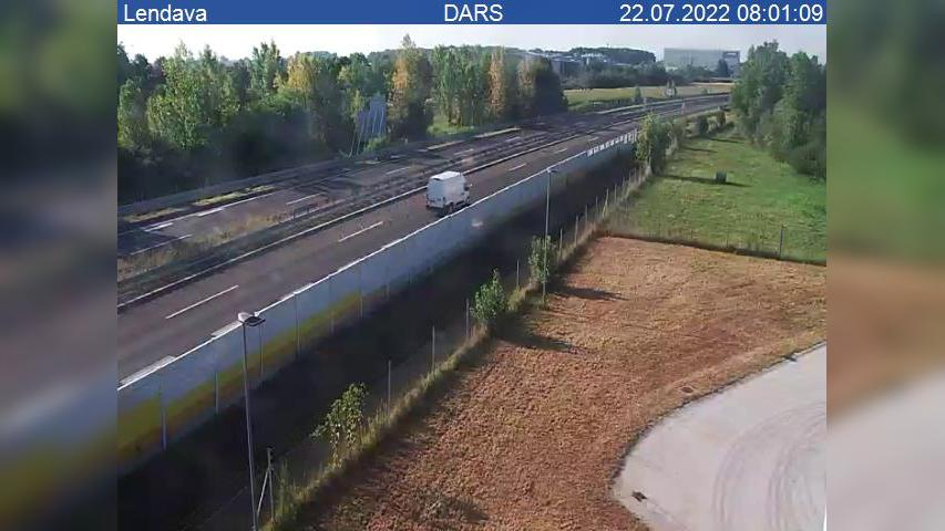 Webcam Lendava: A5, Maribor − odsek Dolga vas