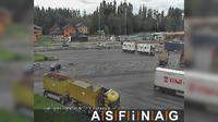 Grossgmain: A, bei Rastplatz Walserberg, Blickrichtung LKW-Stellplatz - Km , - Dia